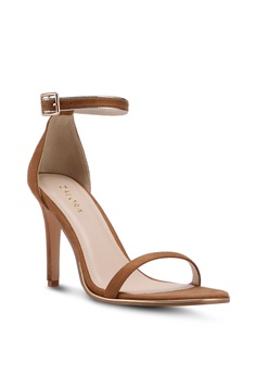496491a159 15% OFF ZALORA High Sandal Heels with Metallic Trim RM 121.70 NOW RM 103.45  Sizes 38 39 40 41
