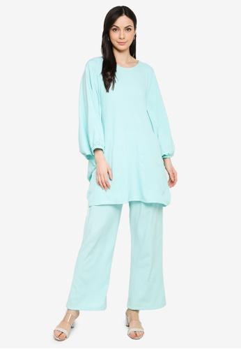 Butik Sireh Pinang green Zalikha Blouse Suit Kaftan 0C92BAA89ED060GS_1
