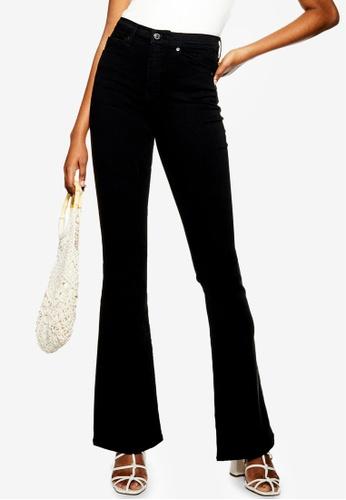 TOPSHOP black Black Jamie Flare Skinny Jeans 92FBCAAD985A18GS_1