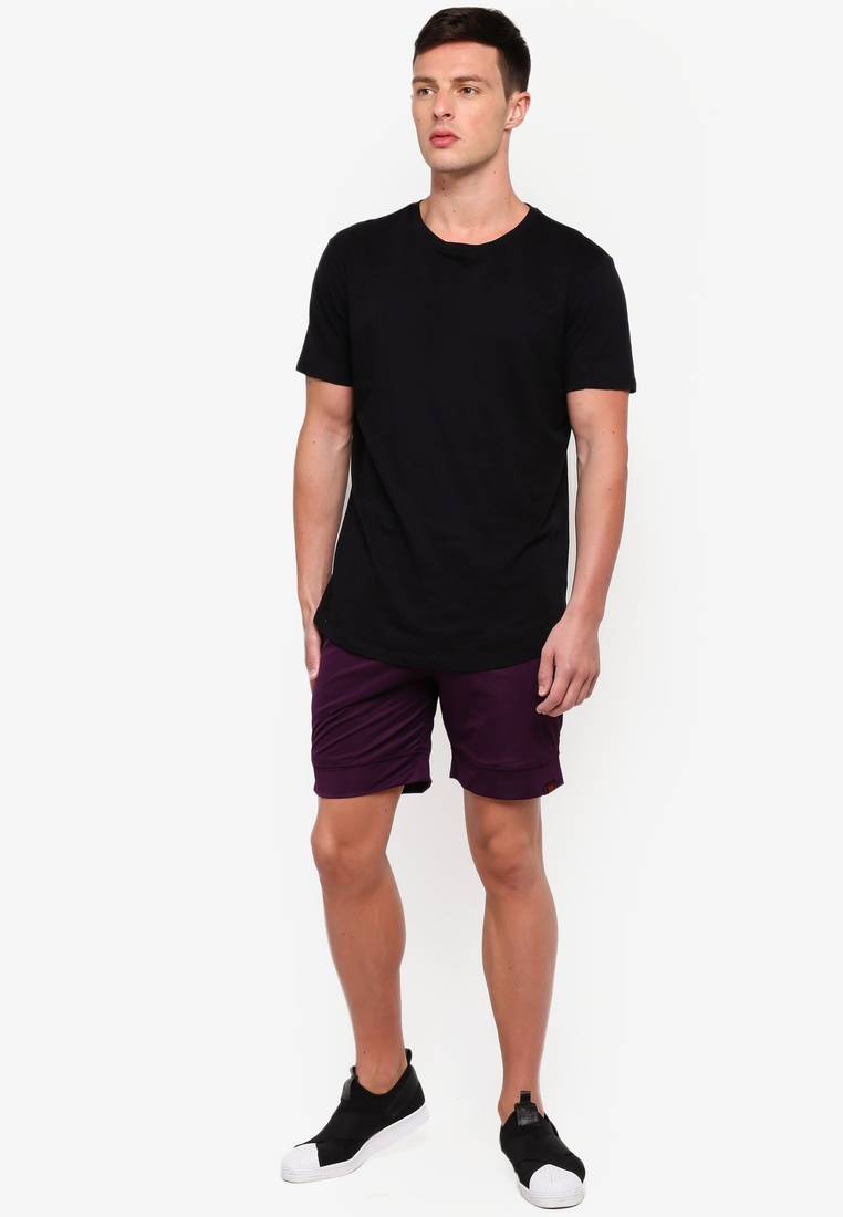 Bermuda Style UniqTee Purple Jogging Shorts gw6xaq5qY