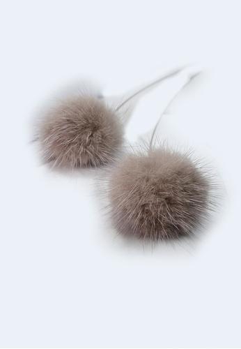 LYCKA grey LPP03602 S925 Silver Soft Hair Grey Earrings E0225AC1450A78GS_1