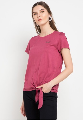Expand pink Lina Shirt With Knot Detail EC4A2AA76295C7GS_1