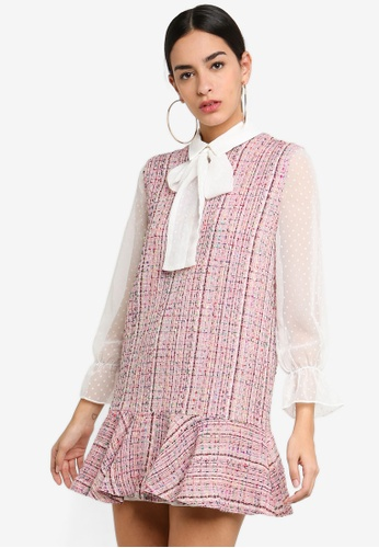 Sister Jane pink Flight Of Fancy Pinafore Dress F101AAA8A5A3D2GS_1