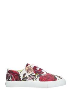 Geometric Roses Kids Sneakers