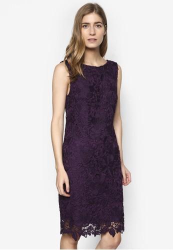 鉤針蕾絲表層連esprit暢貨中心身裙, 服飾, 洋裝