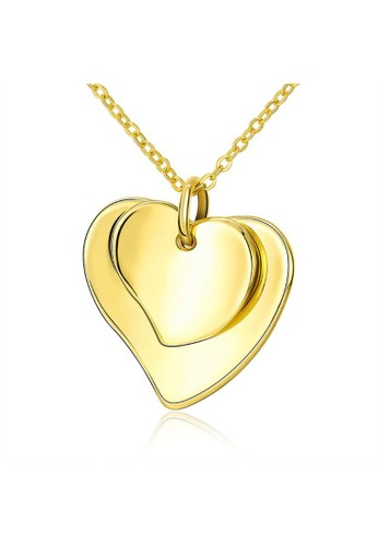 Tiaria yellow Tiaria Lady Heart-Shaped Necklace Gold Coated Aksesoris Perhiasan Kalung AKN043--K10 76C18ACB69A9B3GS_1