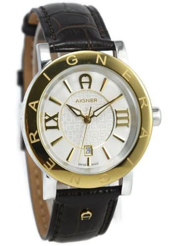 Aigner black Aigner Jam Tangan Pria Coklat Gold Leather Strap A26086  Cortina AI473AC50XVTID 1 4d81972c3d
