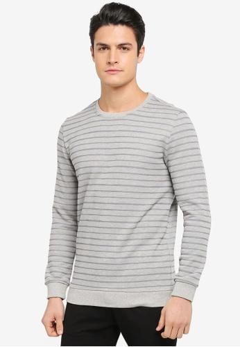 JAXON grey Stripe Sweatshirt B8F32AAA63BF6AGS_1