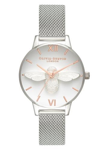 Olivia Burton silver 3D Bee Silver 30 mm Women's Watch 692A1AC10FA498GS_1