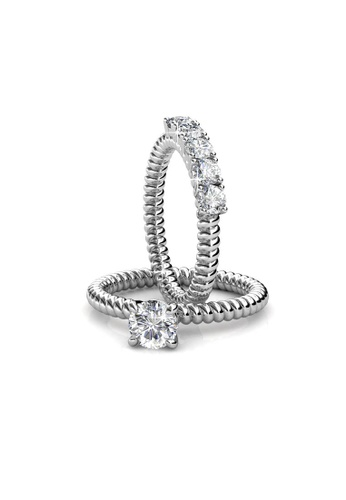 Her Jewellery silver Swarovski® Crystals - Empress Queen Ring (18K White Gold Plated) Her Jewellery HE581AC0RDOAMY_1