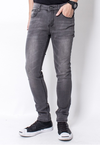 2nd Edition grey Fade Washed Jeans in Grey 2N610AA57CDESG_1