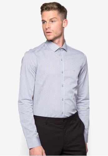 印花修身長袖襯衫, 服esprit 內衣飾, 襯衫