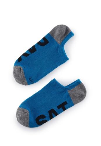 Life8 blue Casual DeodorizationRight Angle Design Low Cut Week Socks -05368-Deep Blue D2F9EAADEC2F74GS_1