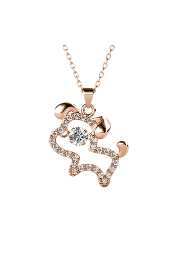 Her Jewellery gold 12 Dancing Zodiac Pendant (Dog) RG- Made with premium grade crystals from Austria A78BEACF985A0AGS_1
