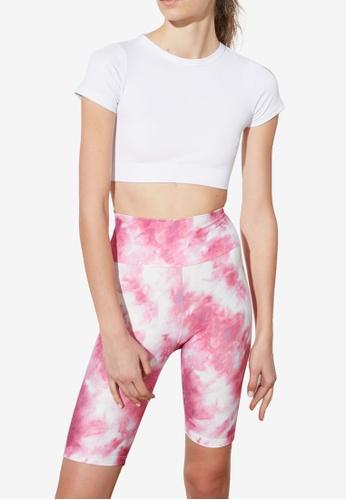 Trendyol pink Printed Biker Shorts C5680AA931F97BGS_1