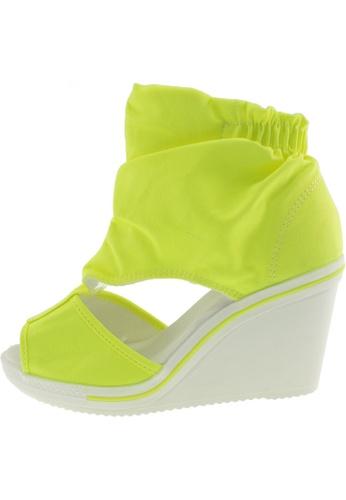 Maxstar 綠色 新款韩国鞋775-Wrinkle時尚帆布布混合女綠色 US Women Size MA345SH29GVYTW_1