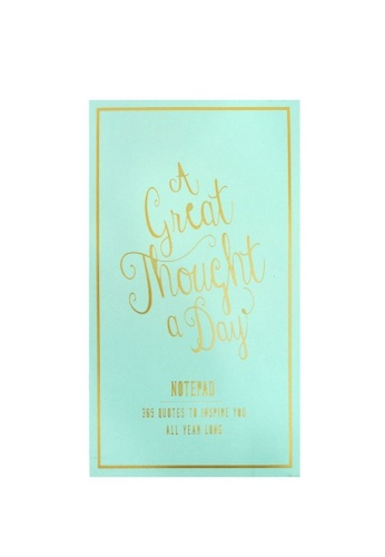Klosh Note Pad - A Great Thought - Seafoam 3CF3EHL2DC8A4FGS_1