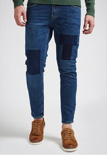 牛王經典。加工水洗。牛仔長褲-0esprit part time7354-深藍, 服飾, 直筒牛仔褲