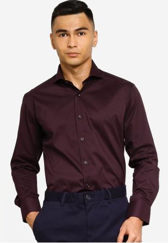 Sacoor Brothers purple Slim fit super comfort easy iron shirt 5CA45AA67B1DE6GS_1