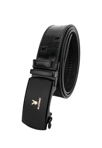 Playboy black 35mm Automatic Belt BBFBBAC4E37061GS_1