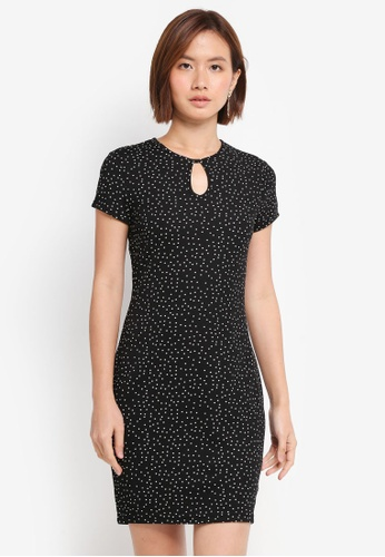 ZALORA black Bodycon Dress With Keyhole 343A4AA90E1DB9GS_1