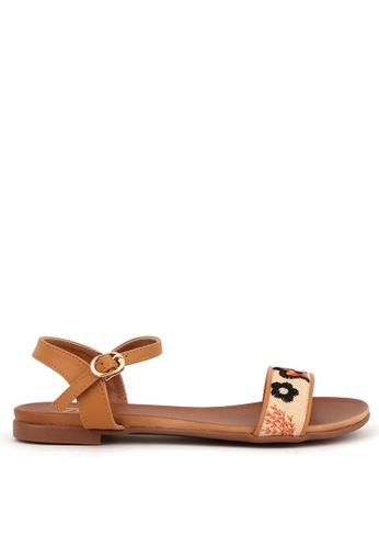 7soles beige Azalea Strappy Sandals 9C008SHF1C6493GS_1