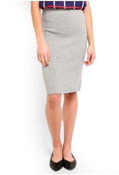 30fe59bd9f65 Banana Republic grey Mix Stitch Knit Pencil Skirt D6D3CAA069116BGS 1