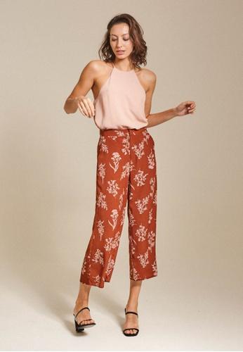 Dressing Paula orange Printed Crepe Culottes 0960CAA117E4F6GS_1