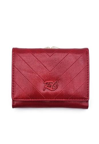 RUCINI red Rucini Ladies Short Tri-Fold Kiss Lock Wallet 6B234AC8B9818AGS_1