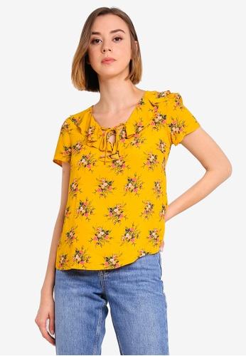 79b87163ef Buy Dorothy Perkins Yellow Ditsy Shell Top Online on ZALORA Singapore
