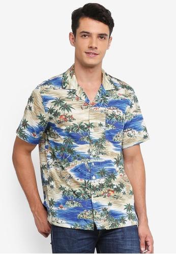J.Crew 多色 Slub Lawn Sailing Lagoon Shirt 6A2D0AAAFE8444GS_1