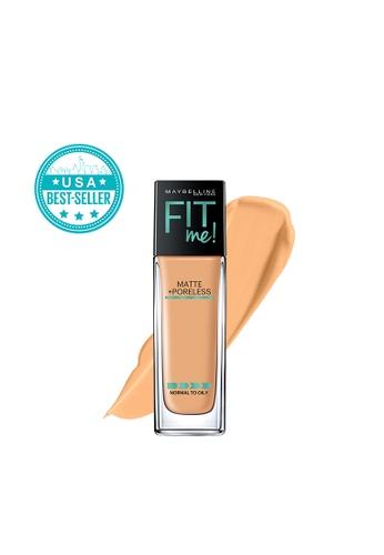 Maybelline beige Fit Me Matte+Poreless Liquid Foundation - 332 Golden Caramel 6A1ECBE428A6F5GS_1