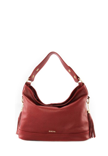 SEMBONIA red SEMBONIA Genuine Leather Hobo Bag SE598AC06JUVMY_1