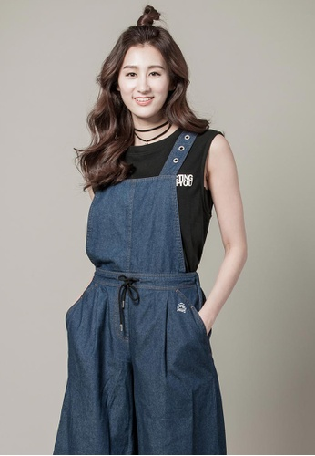 H:CONNECT blue Denim Jumpsuit Pants CD26EAA32A41AAGS_1