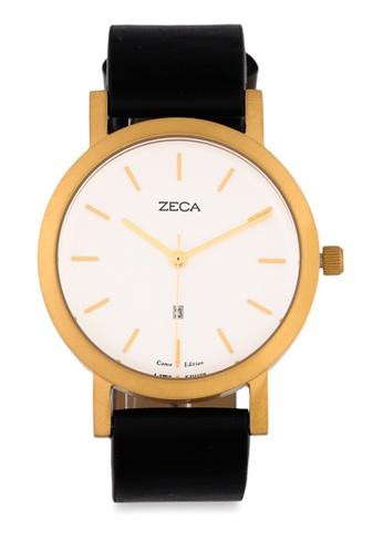 ZECA black and gold Zeca Watches Couple Ladies Fashion - 3009L Black Gold 2B5C1ACDE93DDEGS_1