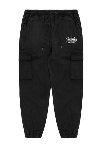 Mini cream black Logo patch cargo pants 09F70AAD601DA2GS_1
