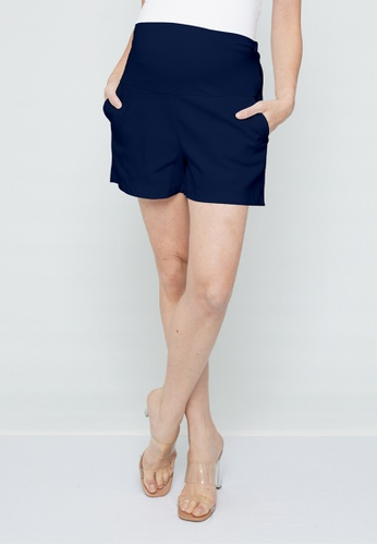 9months Maternity navy Navy Full Panel Maternity Shorts CEE4CAAAECF7B3GS_1