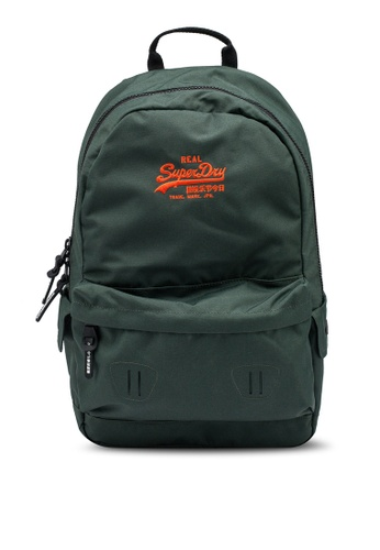 Superdry green Vintage Logo Montana Backpack 01976ACCCCD197GS_1