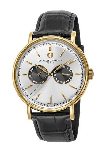 Charles Jourdan black and gold Charles Jourdan CJ1053-1222M - Jam Tangan Pria - Black Gold A2577ACE48778BGS_1