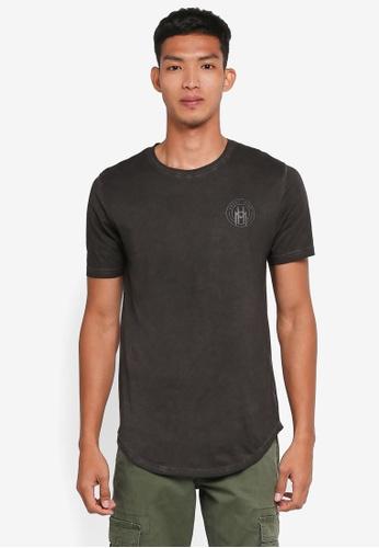 Only & Sons 黑色 短袖印花T恤 2B22DAA6E9890BGS_1