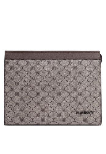 Playboy brown Playboy Clutch Bag F885FACA376F90GS_1