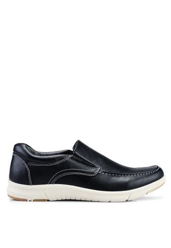 Bata black Slip On Boat Shoes 43307SHB0DD72CGS_1