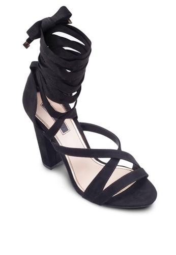 Coco 多帶esprit causeway bay繞踝高跟涼鞋, 女鞋, 鞋