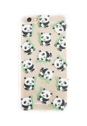 Fancy Cellphone Cases multi Pandas Soft Transparent Case for iPhone 6/6s FA644AC06JPXPH_1