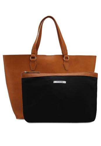 Pieces brown Maribel Shopper Bag 3D238AC1E8B64BGS_1