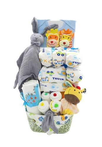 Akarana Baby multi Baby Hamper Gift Set - Newborn Fullmoon Marshmellow (Baby Boy) 061F9KC7E21225GS_1