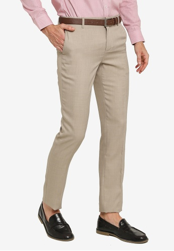 G2000 brown Slim Fit Poly Twill Pants DC8C6AA8710BCFGS_1