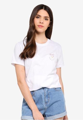 Cotton On white Tbar Fox Graphic T-Shirt CF4AEAA240DDF9GS_1