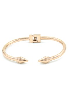 Pointed End Rose Gold Bracelet Bangle