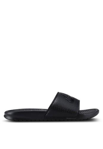 "Nike black Men's Nike Benassi ""Just Do It."" Sandals 2D976SHD7A92C1GS_1"